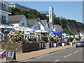 SZ5881 : Shanklin - sea front and lift by Chris Allen