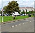 ST0982 : Village Hall direction sign, Bronllwyn, Pentyrch by Jaggery