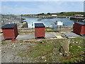 SW5537 : Sluices between Carnsew Pool sand Hayle Harbour by Chris Allen