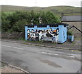 SS9392 : Colourful former public toilets, Brookland Terrace, Nantymoel by Jaggery