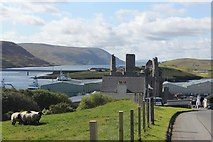 HU4039 : Scalloway Castle and the East Voe of Scalloway by Stuart Taylor