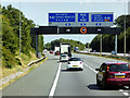 SP1272 : Eastbound M42 approaching the M40/M42 Interchange by David Dixon