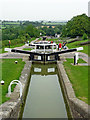 SP6989 : Staircase locks at Foxton in Leicestershire by Roger  Kidd
