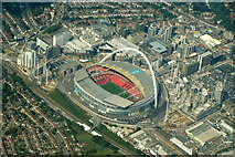 TQ1985 : Wembley Stadium from the air by Mike Pennington