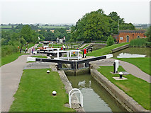 SP6989 : Foxton Staircase Locks in Leicestershire by Roger  Kidd