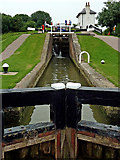 SP6989 : Lock No 10 at Foxton in Leicestershire by Roger  Kidd