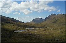 NG9359 : Lochs at the head of the Coire Dubh Mòr pass by Julian Paren