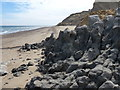 TG2639 : Landslip on the beach at Sidestrand by Mat Fascione
