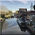 SP2865 : Canalside businesses, Warwick, late winter by Robin Stott