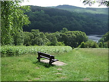 SK1887 : Bench with a view of Ladybower Reservoir by JThomas