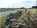 SE1908 : Drystone wall reinforced with fencing, Cumberworth Lane by Christine Johnstone