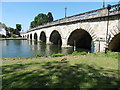 SU9081 : Maidenhead Bridge from the Thames Path National Trail by Dave Kelly