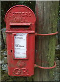 SK1789 : Close up, George V postbox, Jubilee Cottages by JThomas