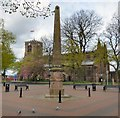 SD6500 : St Mary's Church and Market Obelisk by Gerald England