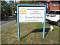 TQ0179 : Practical Driving Test Centre Notice, Slough by David Hillas