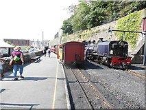 SH4862 : Welsh Highland Railway train at Caernarfon Station by David Hillas