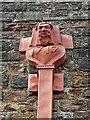 NY3956 : Decorative drainpipe hopper, Carlisle Castle by Rose and Trev Clough