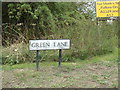 TL9226 : Green Lane sign by Adrian Cable