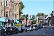 NT2273 : Traffic in Roseburn Terrace, Edinburgh by Jim Barton