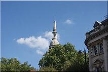 TQ3382 : View of St. Leonard's C of E Shoreditch church from Shoreditch High Street by Robert Lamb