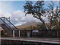 NH1658 : Achnasheen station platform 2 from platform 1 by Alec MacKinnon