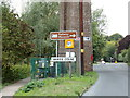 TL8928 : Wakes Colne Village Name sign by Adrian Cable