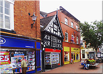SJ6552 : View south along part of High Street, Nantwich by Brian Robert Marshall