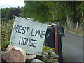 NO6598 : Name sign for West Lyne House by Stanley Howe