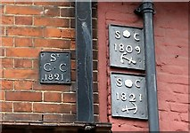 TG2309 : 19 Colegate, Octagon House - parish boundary markers by Evelyn Simak