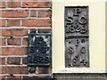 TG2208 : 34 St Giles Street - parish boundary markers by Evelyn Simak