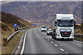 NN6374 : HGV travelling north on the A9 by David Dixon