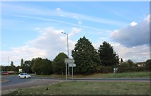 SU4967 : Roundabout on Benham Road, Shaw by David Howard