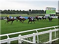 SK6100 : Leicester Racecourse - Inside the final furlong by Richard Humphrey