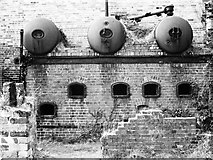 SH4094 : Boilers, Porth Wen Brick Works by Chris Andrews