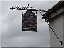 TL8928 : The Swan Inn Public House sign by Adrian Cable
