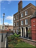 TF4509 : Octavia Hill's birthplace on South Brink in Wisbech by Richard Humphrey