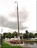 TG3724 : The Wherry Yacht 'Norada' moored at Stalham Staithe by Evelyn Simak