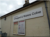 TL8928 : Welcome to Chappel & Wakes Colne sign by Adrian Cable