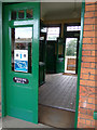 TL8928 : Booking Hall at Chappel & Wakes Colne Railway Station by Adrian Cable