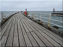 NZ8911 : On Whitby's west breakwater by Philip Halling
