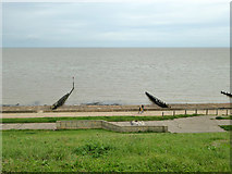 TM2531 : View down from Marine Parade, Dovercourt by Robin Webster