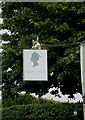 TM4198 : Queens Head Public House sign by Adrian Cable