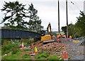 NT3436 : Cyclepath construction near Innerleithen by Jim Barton