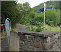 SO1201 : Cycle route 469 signpost, Deri by Jaggery