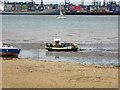 TM2632 : Fishing boat on beach, Harwich by Robin Webster