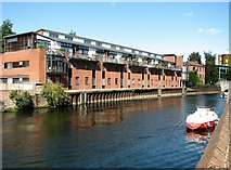 TG2309 : Boat moored on the River Wensum by Evelyn Simak