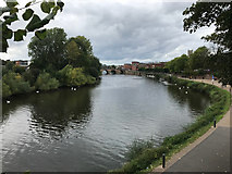 SO8454 : Worcester Bridge and Severn by Graeme Smith