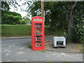 NZ1431 : Telephone box, Witton-le-Wear by JThomas