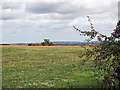 TL4741 : Autumn cultivation on the edge of Cambridgeshire by John Sutton