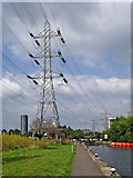 SK5702 : Pylon and Freeman's Lock in Leicester by Roger  Kidd